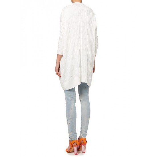 Polo ralph lauren women long sleeve cable knit cardigan white