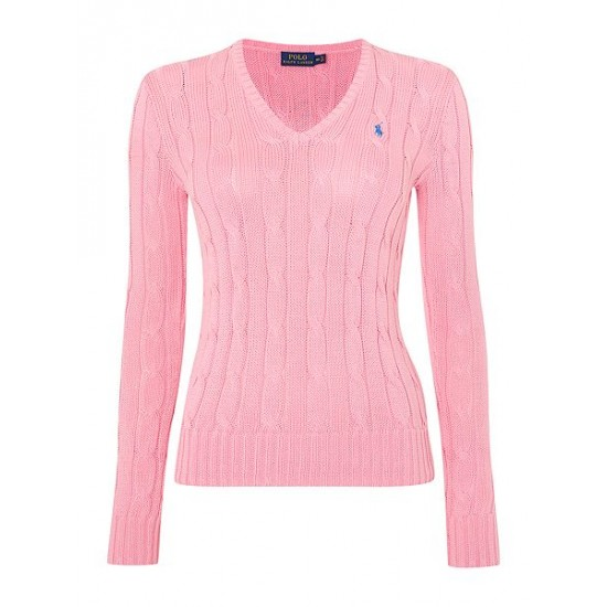 Polo ralph lauren women kimberley long sleeve jumper pink