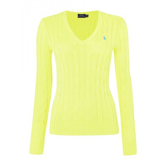 Polo ralph lauren women kimberley long sleeve jumper yellow