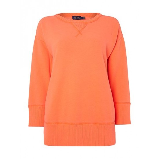 Polo ralph lauren women long sleeve pullover sweater orange