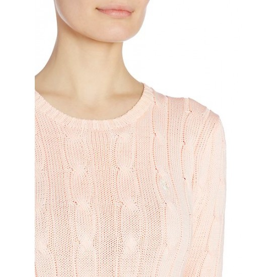 Polo ralph lauren women julianna long sleeve sweater pale pink