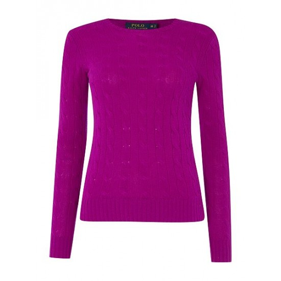 Polo ralph lauren women julianna cashmere purple