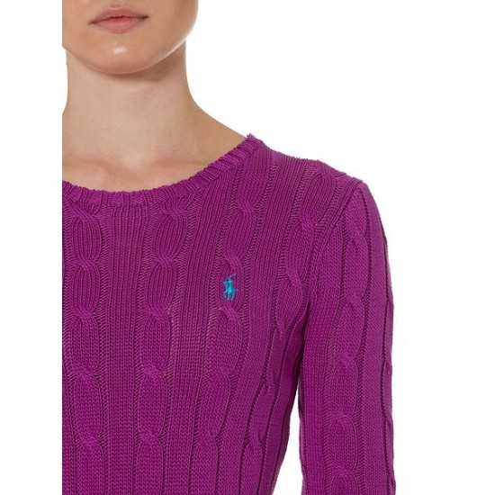 Polo ralph lauren women julianna long sleeve sweater purple