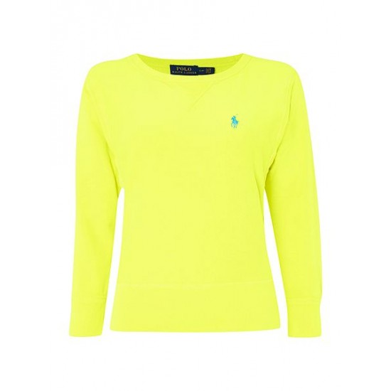 Polo ralph lauren women long sleeve crew neck sweater yellow