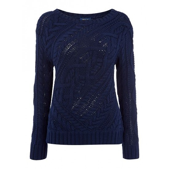 Polo ralph lauren women long sleeve crew neck jumper navy