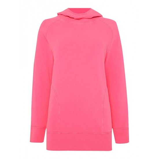 Polo ralph lauren women hooded tunic long sleeve jumper pink