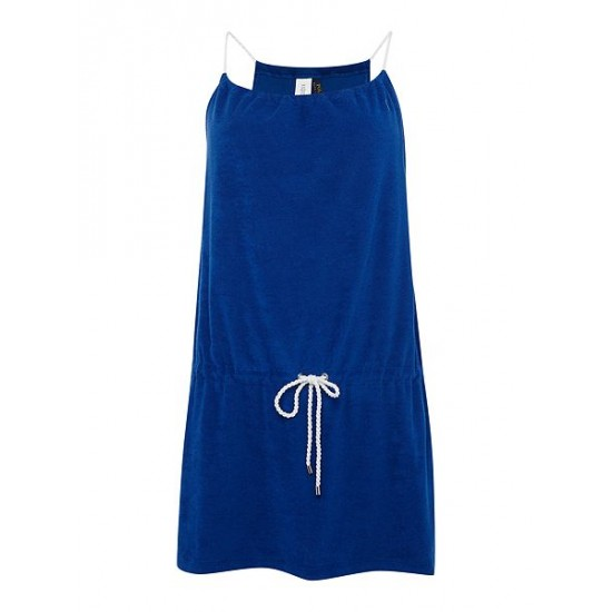 Polo ralph lauren women terry rope dress cover up blue