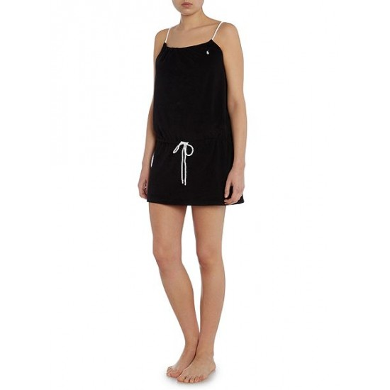 Polo ralph lauren women terry rope dress cover up black