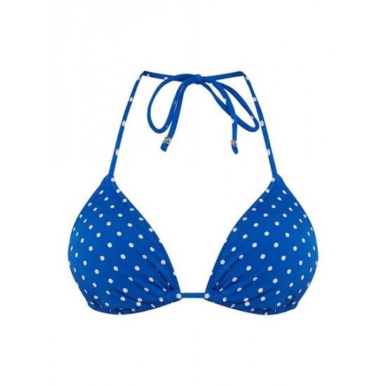 Polo ralph lauren women pin dots ricky bra blue
