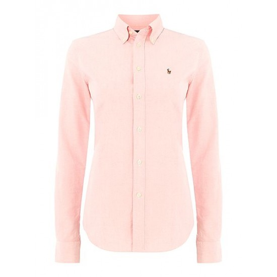 Polo ralph lauren women harper long sleeved shirt pink