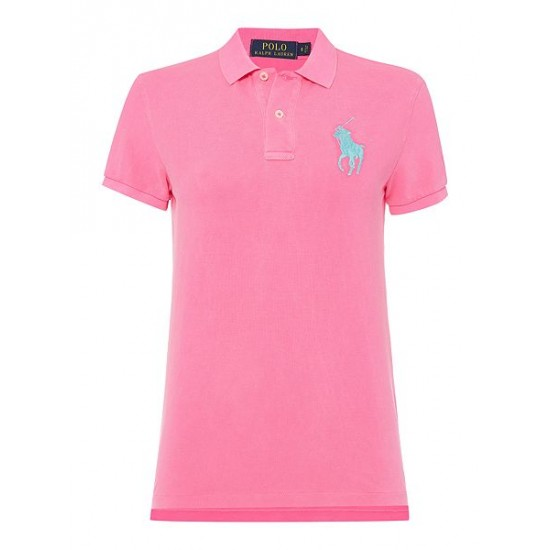 Polo ralph lauren women short sleeve big pony polo top pink