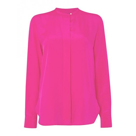 Polo ralph lauren women clarissa silk shirt pink